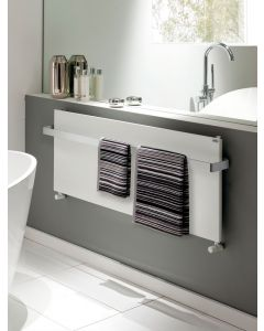 TRC Ice Bagno Horizontal Polished Stainless Steel Designer Heated Towel Rail
