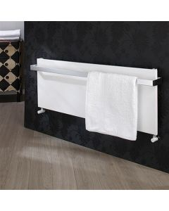 TRC Ice Bagno Horizontal Steel White Designer Heated Towel Rail