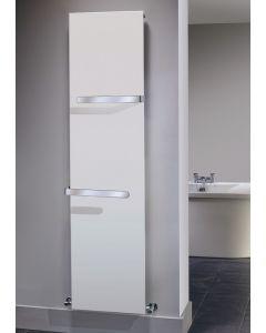 TRC Ice Bagno Vertical Steel White Designer Heated Towel Rail