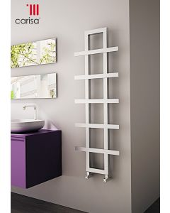 Carisa Iguana Brushed Stainless Steel Designer Heated Towel Rail