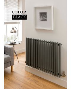 TRC Inferno Steel Black Horizontal Designer Radiator