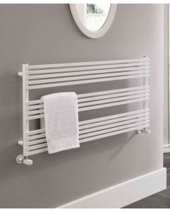 TRC BDO Ingot Steel White Designer Heated Towel Rail