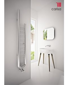 Carisa Jazz Stainless Steel Designer Heated Towel Rail 1500mm x 240mm