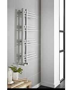 Kartell New York Steel Chrome Designer Heated Towel Rail 906mm x 500mm