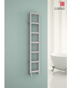 Carisa Kare Brushed Stainless Steel Designer Heated Towel Rail