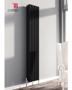 Carisa Karo Aluminium Black Vertical Designer Radiator