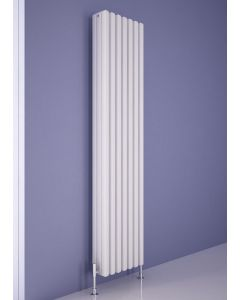 Carisa Karo Aluminium White Vertical Designer Radiator