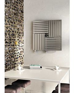 Carisa Keops Brushed Stainless Steel Horizontal Designer Radiator