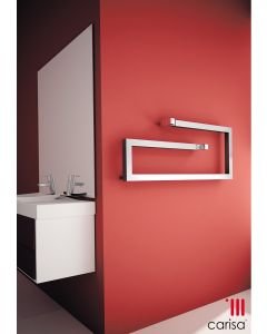 Carisa Klips Bushed Stainless Steel Designer Heated Towel Rail 400mm x 1000mm