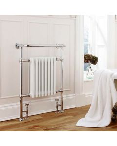Kartell Crown Steel White Designer Heated Towel Rail