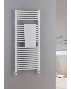 TRC Lupin Steel Straight White Heated Towel Rail