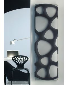 TRC Metacrylic Steel Black on Satinato Printed Vertical Designer Radiator