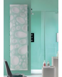 TRC Metacrylic Steel Verde on White Printed Vertical Designer Radiator
