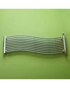 Kartell Miami Steel Chrome Horizontal Designer Radiator 450mm x 1400mm