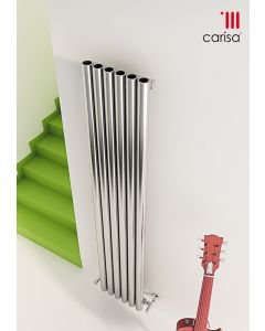 Carisa Mistral Brushed Stainless Steel Vertical Designer Radiator