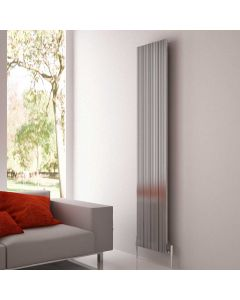 Carisa Monza Polished Aluminium Custom Painted Vertical Designer Radiator