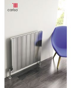 Carisa Monza Polished Aluminium Custom Painted Horizontal Designer Radiator