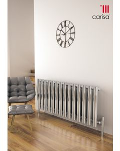 Carisa Mayra Steel Chrome Horizontal Designer Radiator