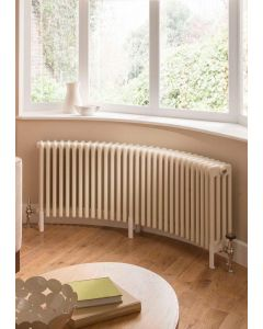 TRC Ancona Curve Steel White Custom Painted Horizontal Column Radiator