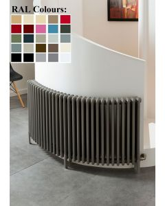 TRC Ancona Curve Steel Custom Painted Horizontal Column Radiator