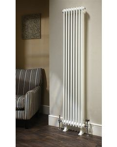 TRC Ancona Steel White Custom Painted Vertical Column Radiator