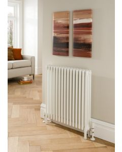 TRC Ancona Steel White Custom Painted Horizontal Column Radiator