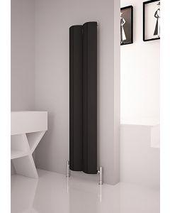 Carisa Nixie Aluminium Black Vertical Designer Radiator