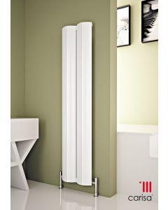 Carisa Nixie Aluminium White Vertical Designer Radiator