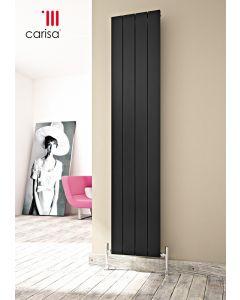 Carisa Nemo Aluminium Black Vertical Designer Radiator