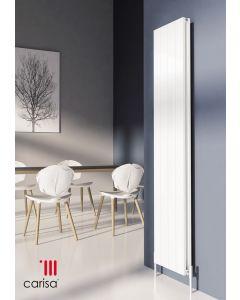 Carisa Nemo Aluminium White Vertical Designer Radiator