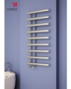 Carisa Nero Chrome Designer Heated Towel Rail