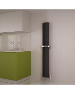 Carisa Nixie Bath Aluminium Black Vertical Designer Radiator