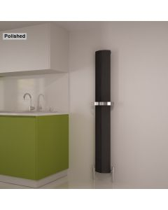 Carisa Nixie Bath Polished Aluminium Custom Painted Vertical Designer Radiator