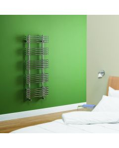 Kartell Oakland Steel Chrome Designer Heated Towel Rail