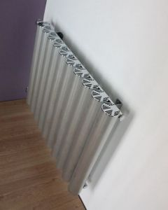 Carisa Otto Polished Aluminium Custom Painted Horizontal Designer Radiator