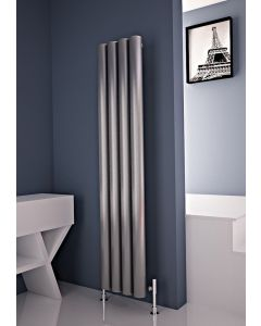 Carisa Otto Polished Aluminium Custom Painted Vertical Designer Radiator