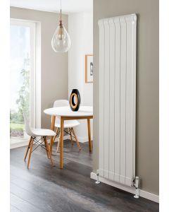 TRC Ottimo Aluminium White Custom Painted Vertical Designer Radiator