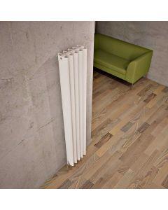 Carisa Oval Aluminium White Vertical Designer Radiator