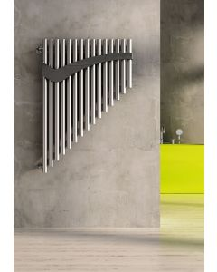 Carisa Pan Brushed Stainless Steel Vertical Designer Radiator 1100mm x 740mm