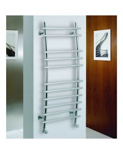 Kartell Pheonix Steel Chrome Designer Heated Towel Rail 1150mm x 500mm