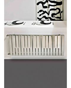 Carisa Piano Brushed Stainless Steel Horizontal Designer Radiator