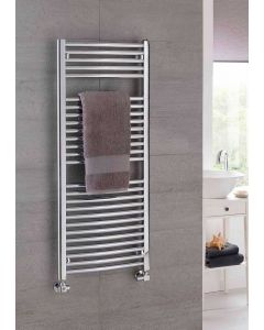 TRC Poppy Steel Curved Chrome Heated Towel Rail
