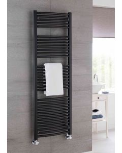 TRC Poppy Steel Curved Custom Painted Heated Towel Rail
