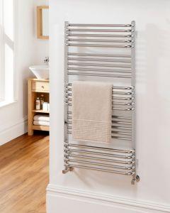 TRC Poll Steel Chrome Designer Heated Towel Rail