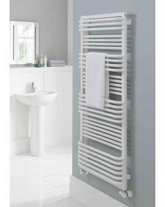 TRC Poll Steel White Designer Heated Towel Rail