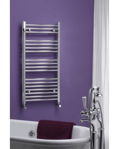 Kartell K-Rail 25mm Premium Steel Curved Chrome Heated Towel Rail
