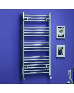 Kartell K-Rail 25mm Premium Steel Straight Chrome Heated Towel Rail