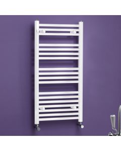 Kartell K-Rail 25mm Premium Steel Curved White Heated Towel Rail
