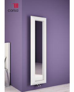 Carisa Quadro Aluminium White Vertical Designer Radiator