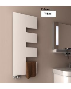 Reina Ella Steel White Vertical Designer Radiator 1200mm x 500mm